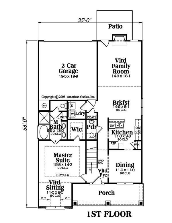 House Plan AG-Alexandria Main Floor Plan