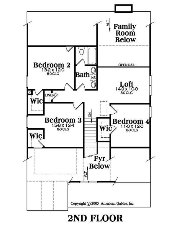 House Plan AG-Alexandria Second Floor Plan