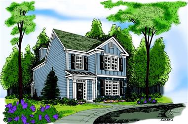 3-Bedroom, 1853 Sq Ft Country House Plan - 104-1009 - Front Exterior