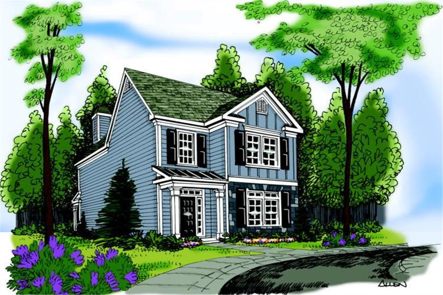 Main image for house plan # 17052