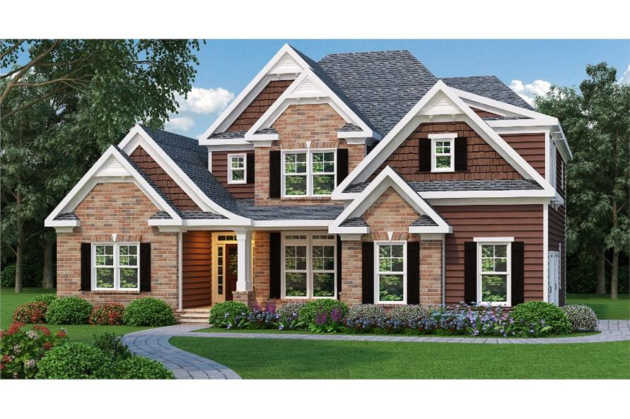 Home Plan Rendering of this 3-Bedroom,2276 Sq Ft Plan -2276