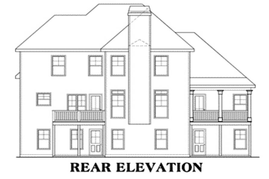 Home Plan Rear Elevation of this 3-Bedroom,2276 Sq Ft Plan -104-1010