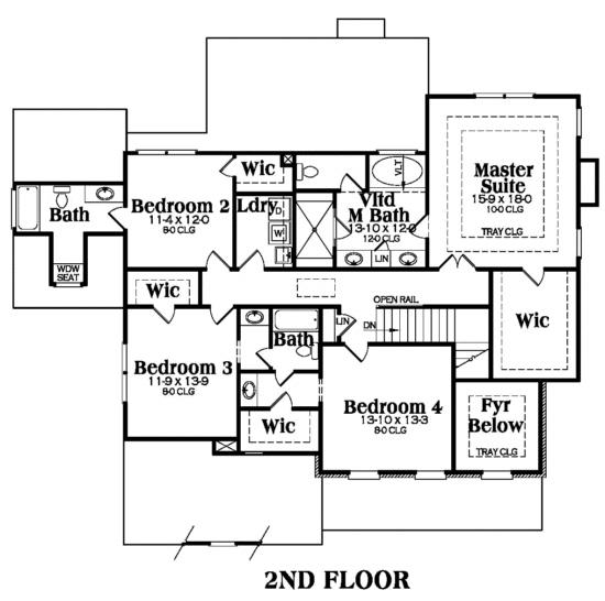 104-1011: Floor Plan Upper Level