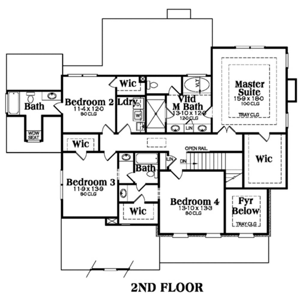 104-1011: Floor Plan Upper Level