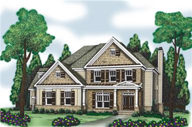 5-Bedroom, 3191 Sq Ft Country Home Plan - 104-1011 - Main Exterior