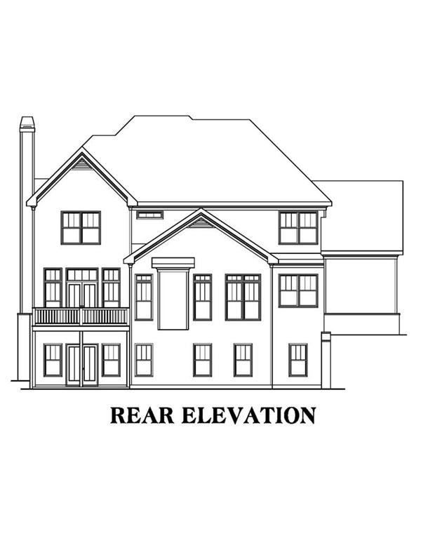 House Plan AG-Bradford Rear Elevation