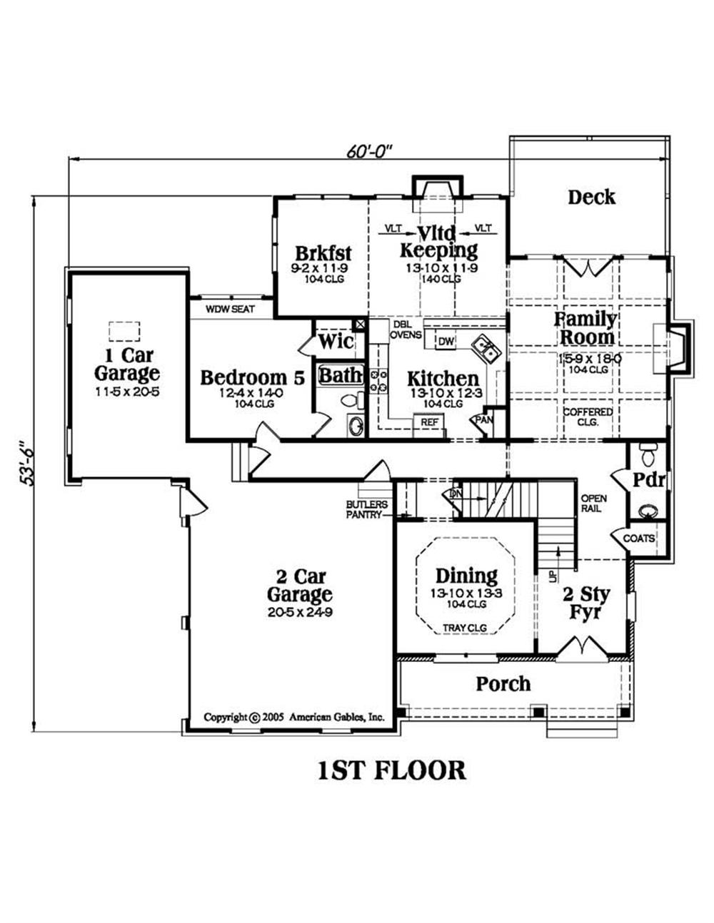 House Plan AG-Bradford Main Floor Plan