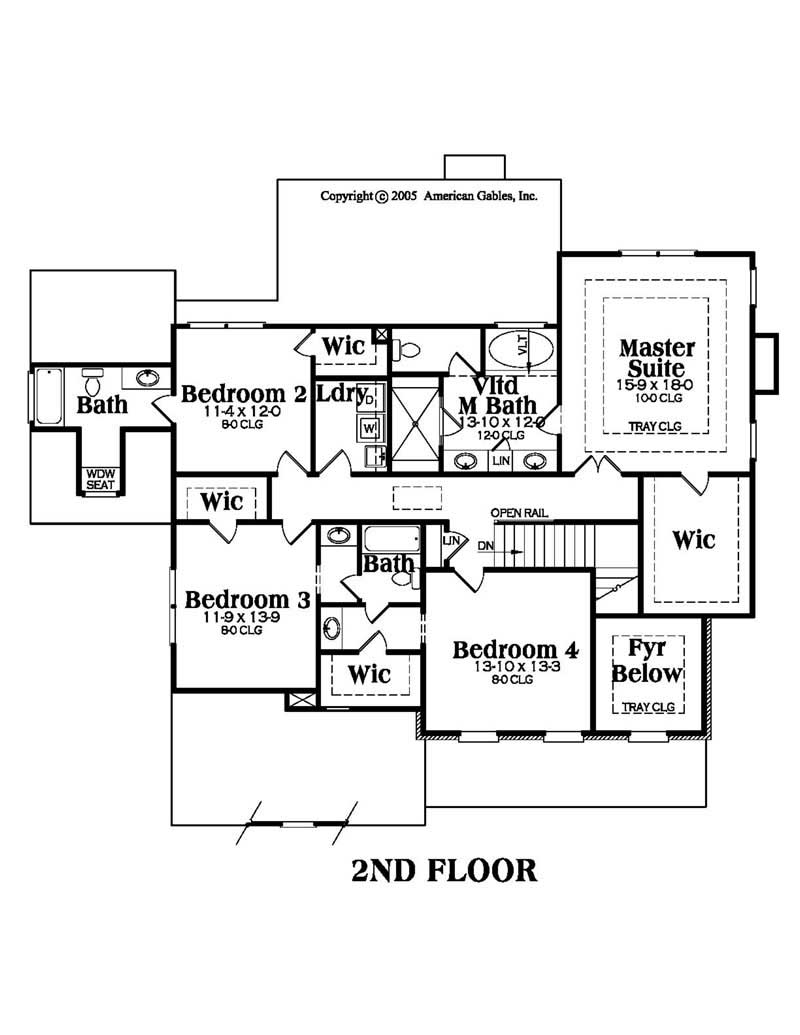 House Plan AG-Bradford Second Floor Plan