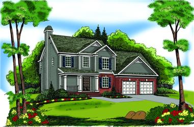 3-Bedroom, 1496 Sq Ft Country House Plan - 104-1012 - Front Exterior