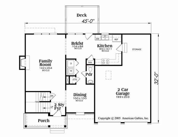 House Plan Donovan Main Floor Plan