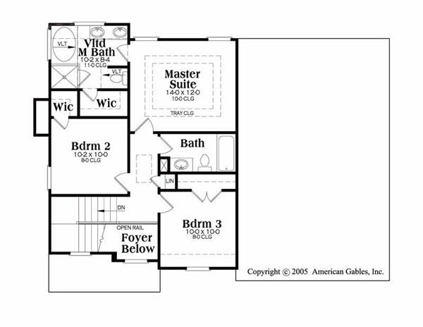 House Plan Donovan Second Floor Plan