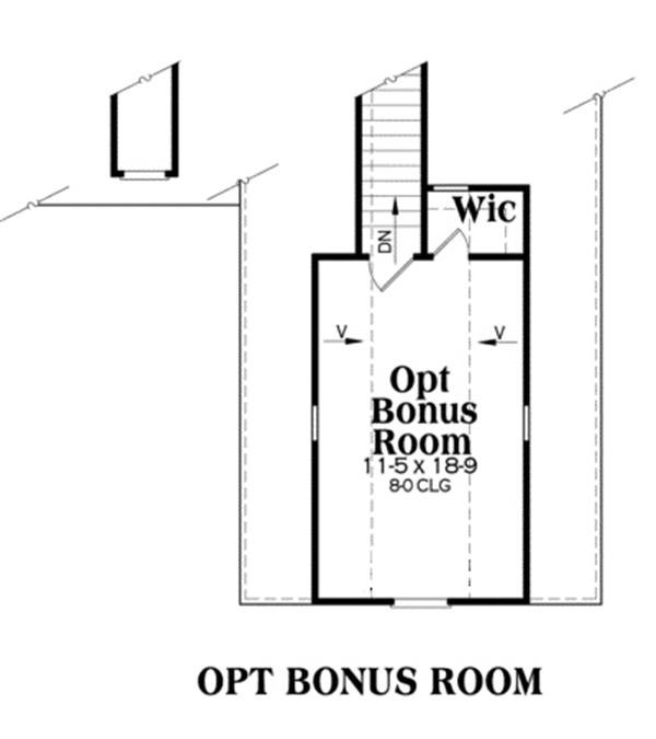 104-1013: Floor Plan Bonus Room