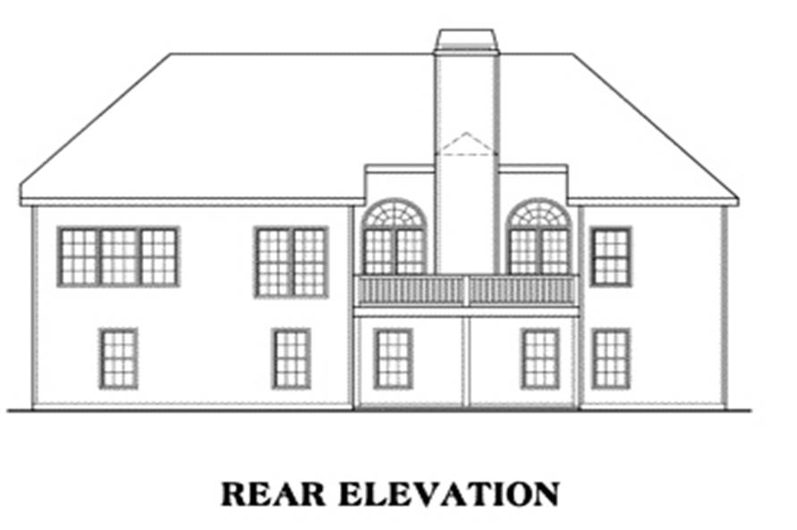 104-1013: Home Plan Rear Elevation