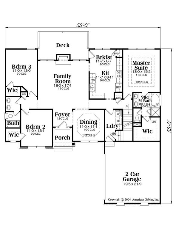 House Plan Brookstone Main Floor Plan