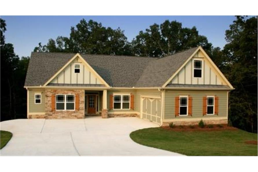 Home Plan Rendering of this 3-Bedroom,1732 Sq Ft Plan -104-1014