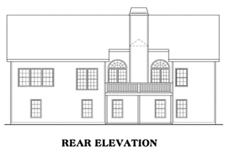 104-1014: Home Plan Rear Elevation