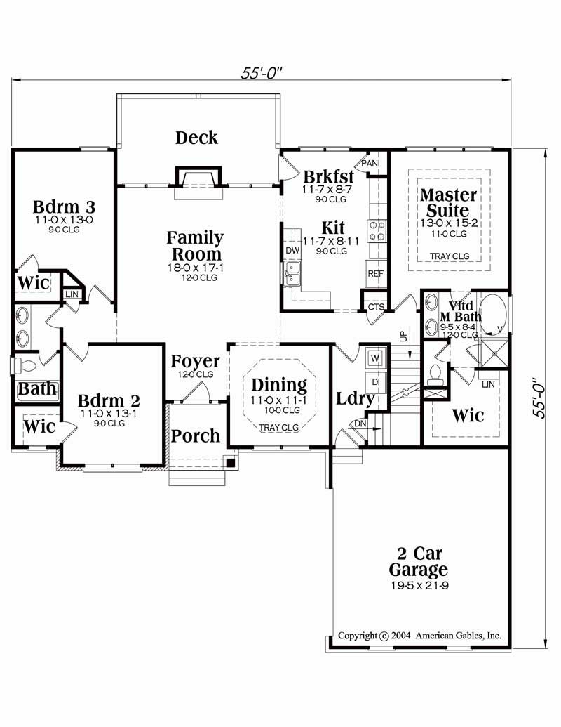 House Plan Lanier Main Floor Plan