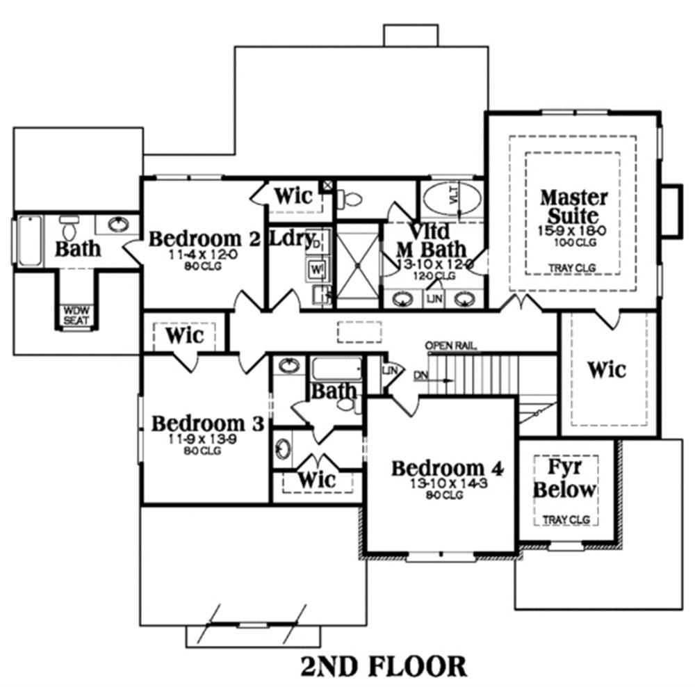 104-1015: Floor Plan Upper Level