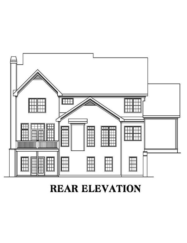 House Plan AG-Magnolia Rear Elevation