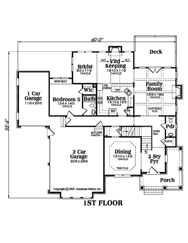 House Plan AG-Magnolia Main Floor Plan