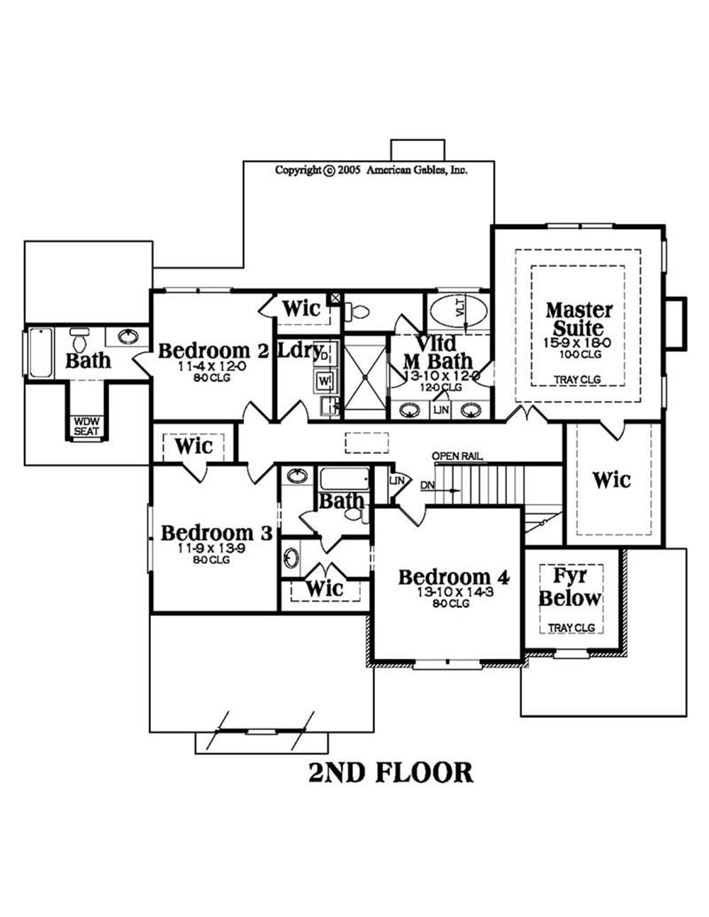House Plan AG-Magnolia Second Floor Plan