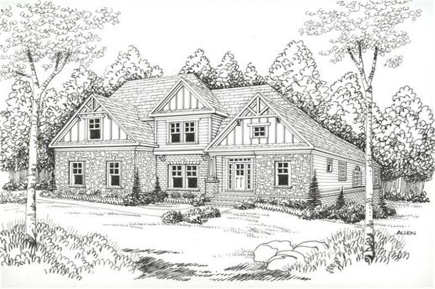 Home Plan Rendering of this 4-Bedroom,3167 Sq Ft Plan -104-1016