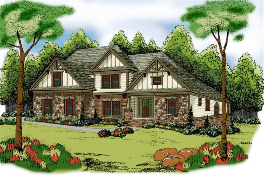 Main image for house plan # 17100