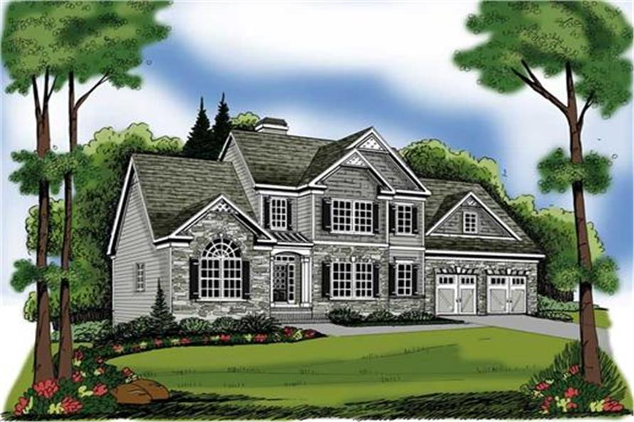 Home Plan Rendering of this 3-Bedroom,1721 Sq Ft Plan -1721