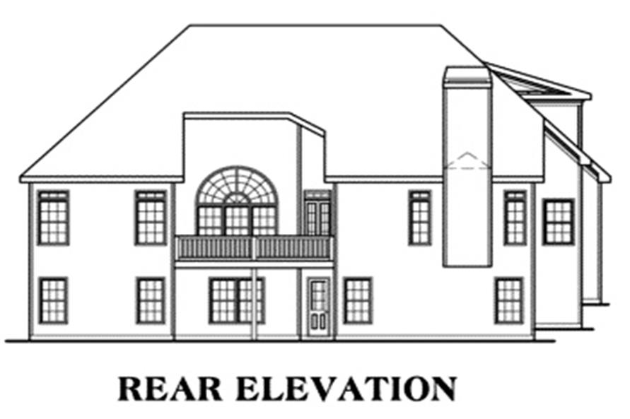 Home Plan Rear Elevation of this 3-Bedroom,2397 Sq Ft Plan -104-1018