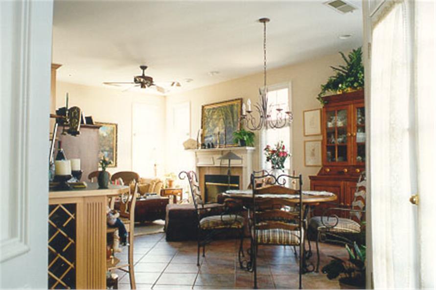 104-1018: Home Interior Photograph-Kitchen: Breakfast Nook