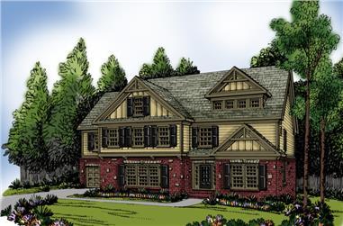 4-Bedroom, 3701 Sq Ft Craftsman Home Plan - 104-1019 - Main Exterior