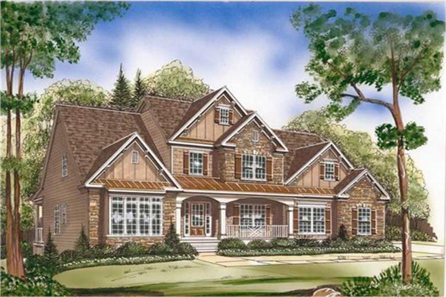 Home Plan Rendering of this 4-Bedroom,2965 Sq Ft Plan -104-1020