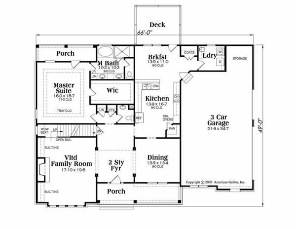 House Plan Jamestowne Main Floor Plan