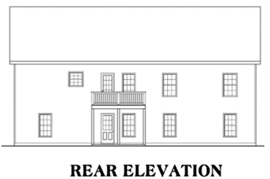 104-1021: Home Plan Rear Elevation