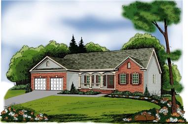 3-Bedroom, 1566 Sq Ft Country House Plan - 104-1021 - Front Exterior