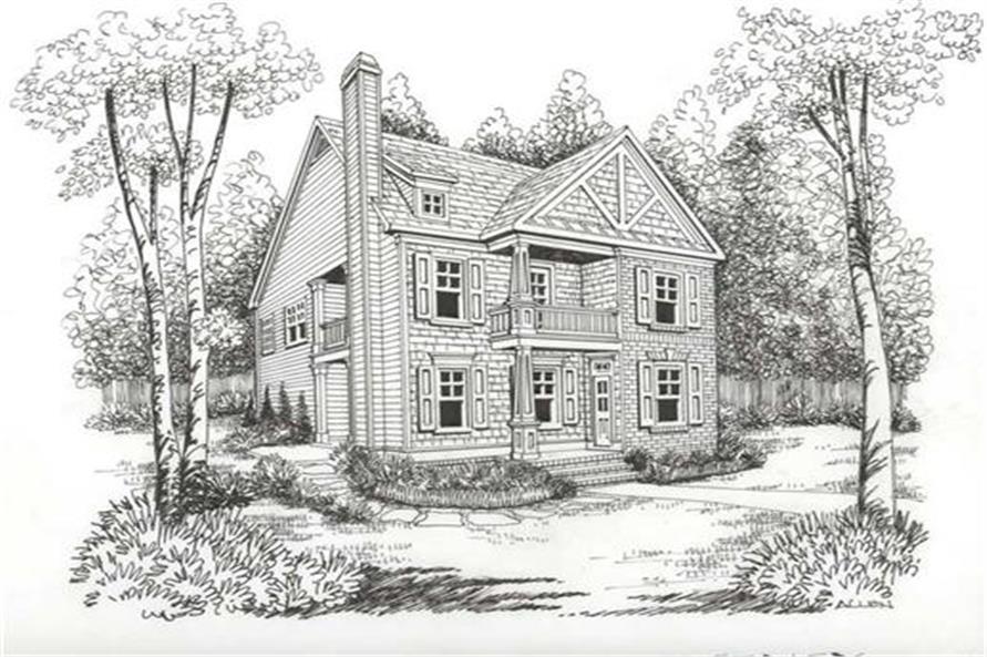 Home Plan Rendering of this 3-Bedroom,1785 Sq Ft Plan -104-1022