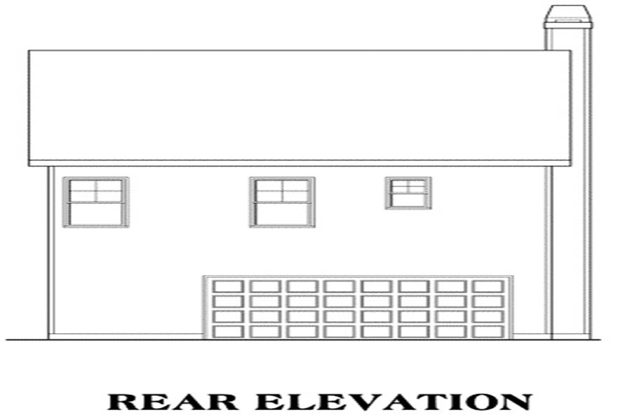 Home Plan Rear Elevation of this 3-Bedroom,1785 Sq Ft Plan -104-1022