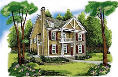 3-Bedroom, 1785 Sq Ft Craftsman House Plan - 104-1022 - Front Exterior