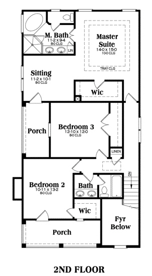 Coastal Home With 3 Bdrms 1785 Sq Ft Floor Plan 104 1023