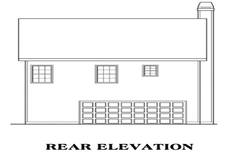 104-1023: Home Plan Rear Elevation
