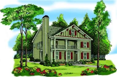 3-Bedroom, 1785 Sq Ft Coastal House Plan - 104-1023 - Front Exterior