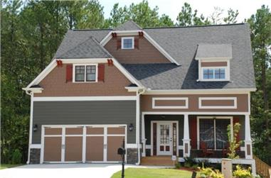 4-Bedroom, 2533 Sq Ft Country House Plan - 104-1024 - Front Exterior