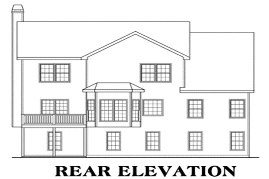 104-1025: Home Plan Rear Elevation