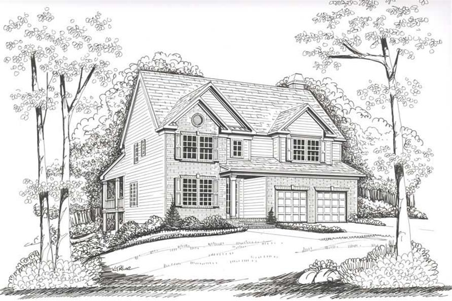 Home Plan Rendering of this 4-Bedroom,2335 Sq Ft Plan -104-1026