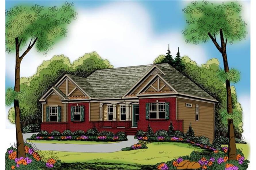 104-1028: Home Plan Rendering