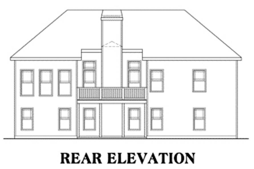 104-1028: Home Plan Rear Elevation
