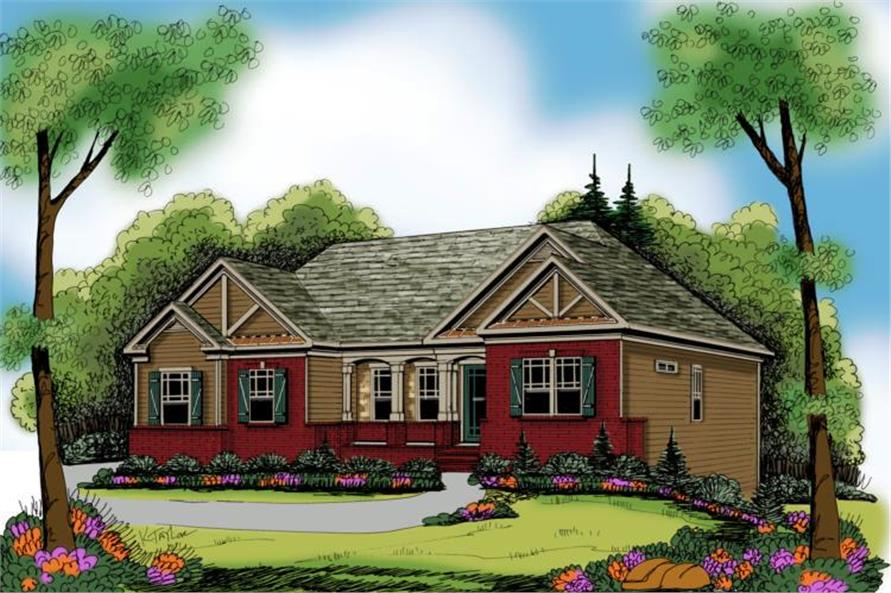Main image for house plan # 17155