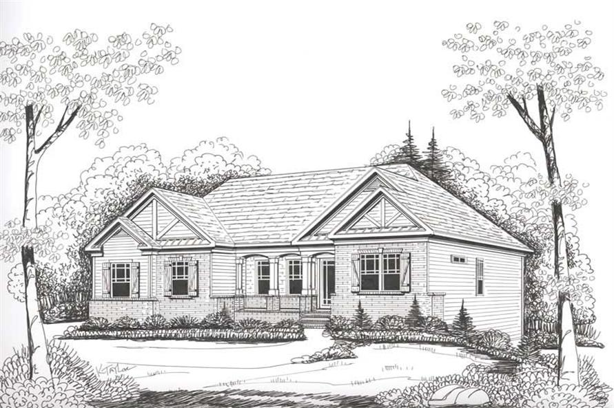 Front Elevation of this 3-Bedroom,1960 Sq Ft Plan -1960