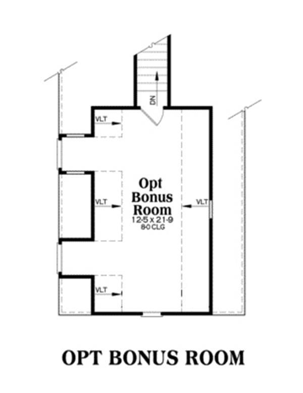 104-1029: Floor Plan Bonus Room