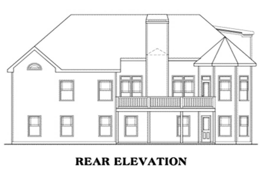 Home Plan Rear Elevation of this 3-Bedroom,2107 Sq Ft Plan -104-1029